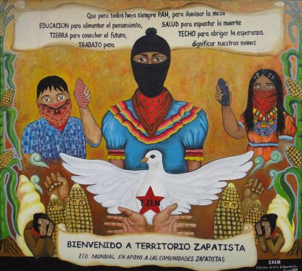 bienvenido a territorio zapatista