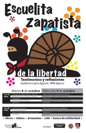escuelita zapatista en UPN
