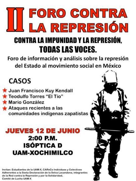 foro contra al represion