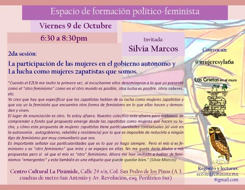 Invitación al Espacio de formación político-feminista. Viernes 9 de ...