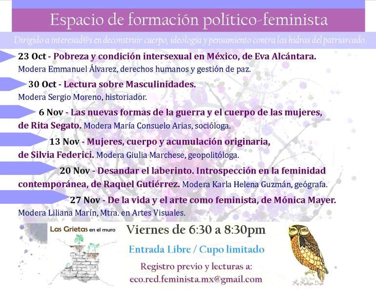 Cartel espacio feminista