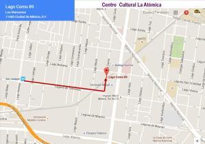 Mapa Centro Cultural la Atómica