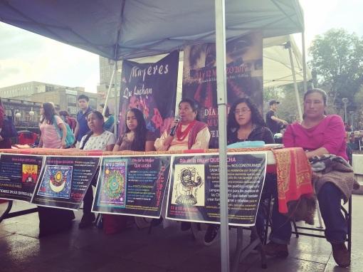 Mesa pueblos originarios que luchan y se organizan