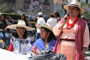 mujeres integrantes del Congreso Nacional Indigena